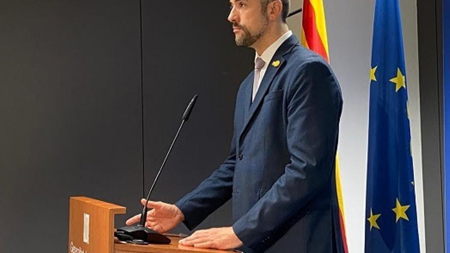 El conseller de Acción Exterior, Relaciones Institucionales y Transparencia de la Generalitat, Bernat Solé