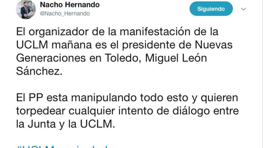 FOTO: Twitter @Nacho_Hernando