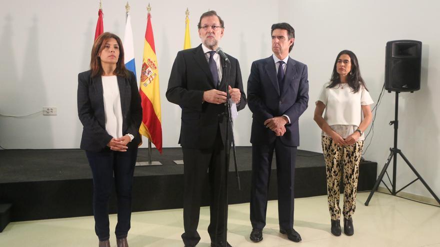 Carmen Hernández, Mariano Rajoy, José Manuel Soria y María del Carmen Hernández Bento.