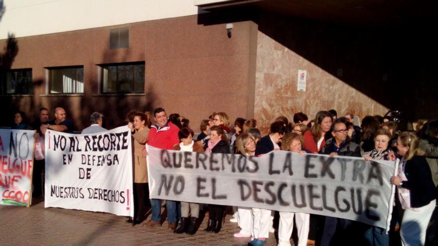 Protesta de la plantilla de la empresa de limpieza de edificios y locales PALICRISA / CCOO