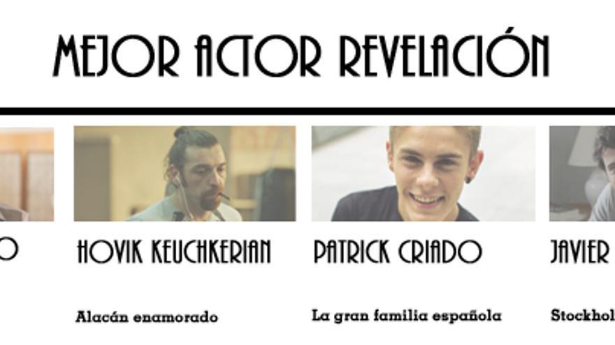 Nominados a Mejor Actor Revelación