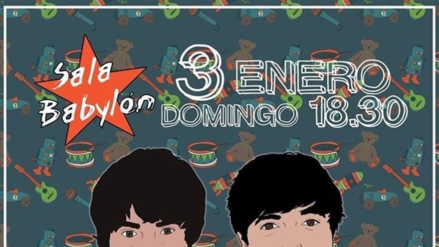 Cartel del concierto benéfico de la banda 'Rey Sol', elaborado por Beatriz García