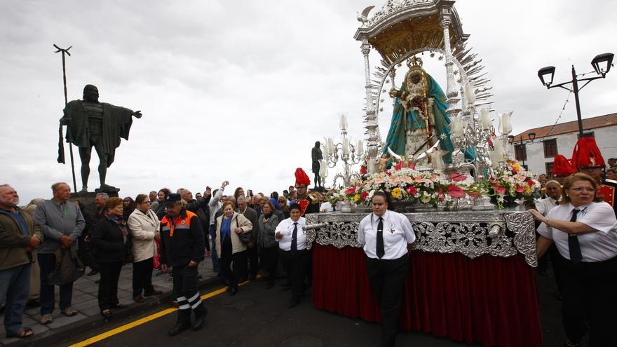La procesión de la Virgen de Candelaria congregó a personas de todas las Islas.