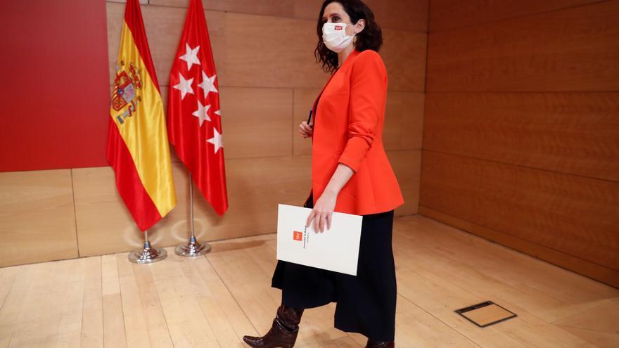 Ayuso anuncia ayudas para autónomos y empresas afectados por la pandemia