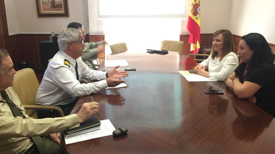 Reunión en el Ministerio de Denfensa.