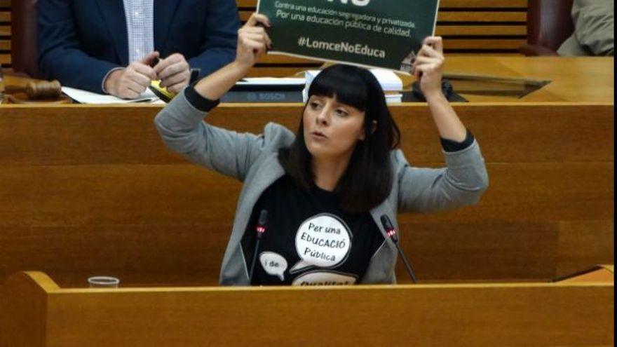 Sandra Mínguez, diputada de Podemos