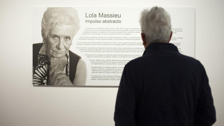 Imagen del montaje de Massieu que acoge la Fundación Canaria Cristino de Vera, en La Laguna