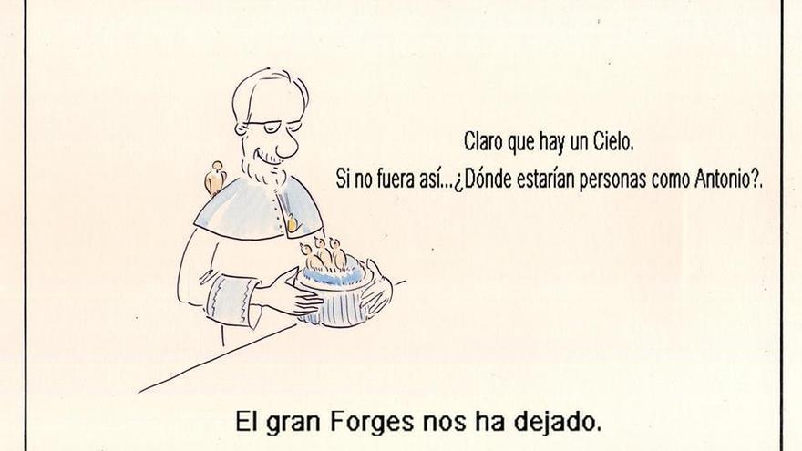 Viñeta homenaje a Forges