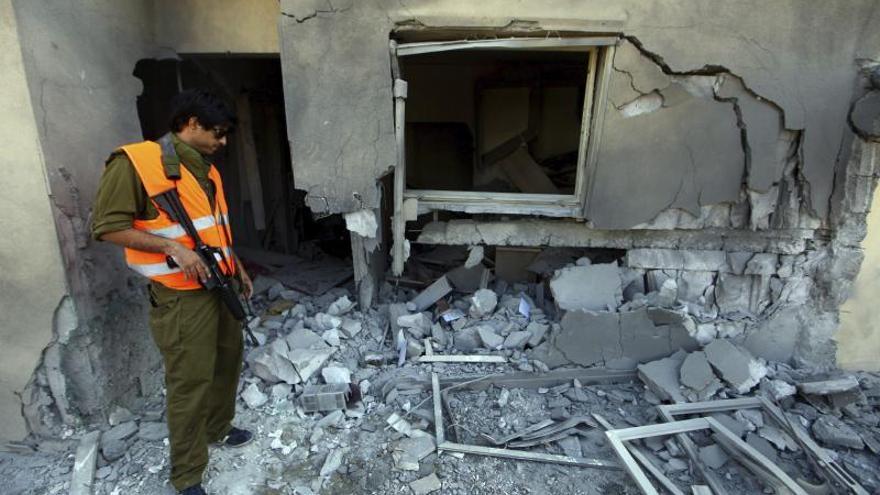 Muertos dos milicianos palestinos en un ataque aéreo israelí en Gaza