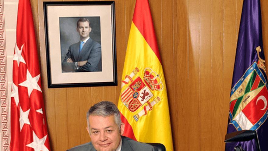El alcalde de Colmenar Viejo, Miguel Ángel Santamaría.