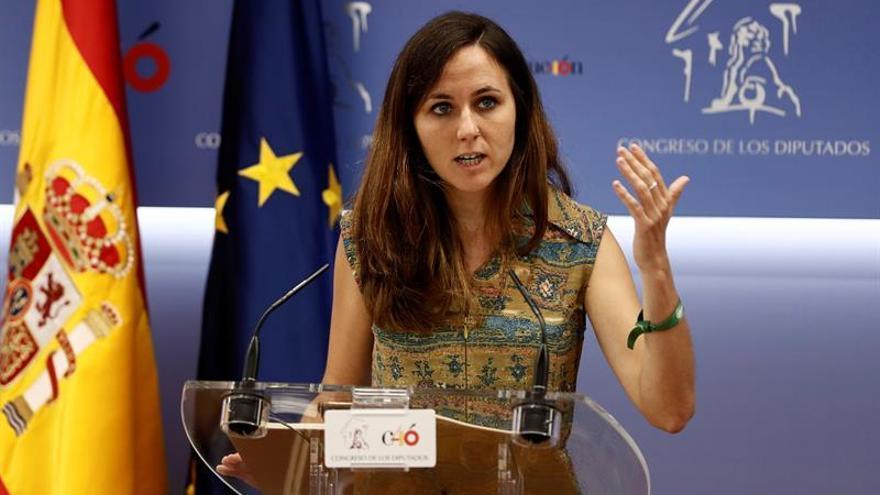 La portavoz adjunta de Podemos en el Congreso, Ione Belarra.