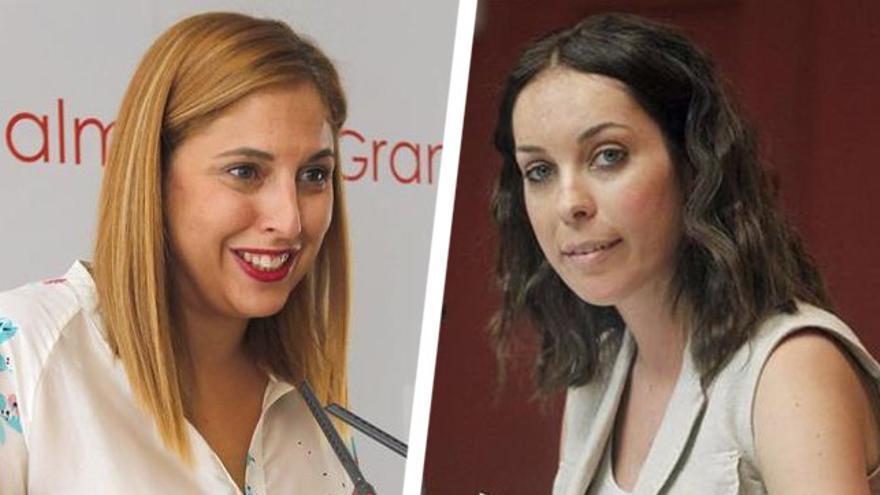 Las socialistas Isabel Mena y Guacimara Medina.