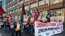 Manifestación en Vitoria-Gasteiz, en el tercer día de huelga en la atención primaria