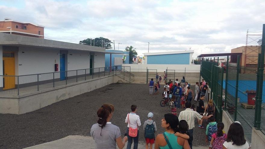 El CEIP de La Laguna, en el municipio de Los Llanos de Aridane, ha  estrenado aulario nuevo. Foto: Ayuntamiento de Los Llanos.