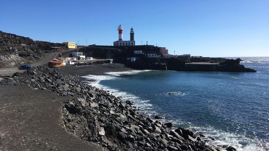 Playa junto al Faro de Fuencaliente, uno de los puntos principales de afloramiento de CO2 donde se están realizando estudios.