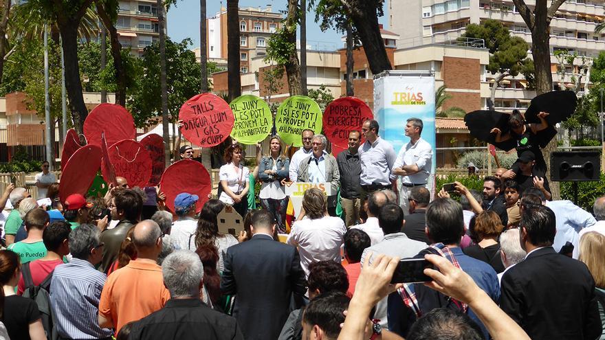 La PAH ha irromput silenciosament a un acte de campanya de Xavier Trias a Les Corts / João França