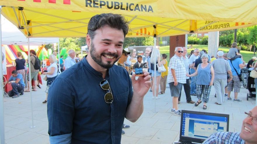 """Rufián a Podemos: """"No prometemos una revolución con el PSOE sino una república"""""""