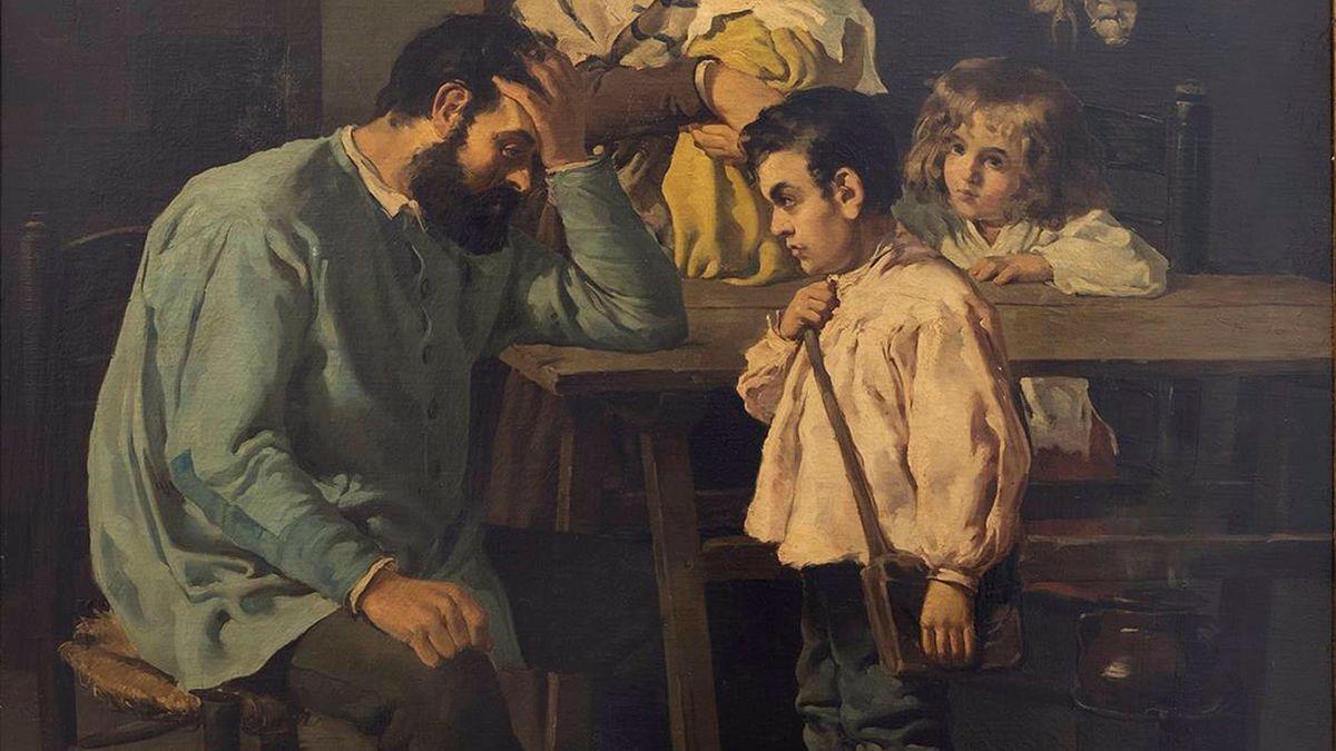 Cuadro 'Sin trabajo' de Rafael Romero de Torres.