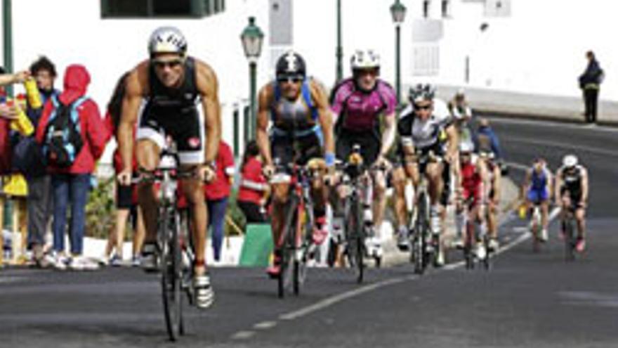 Imagen del Ironman celebrado este sábado en Lanzarote. EFE