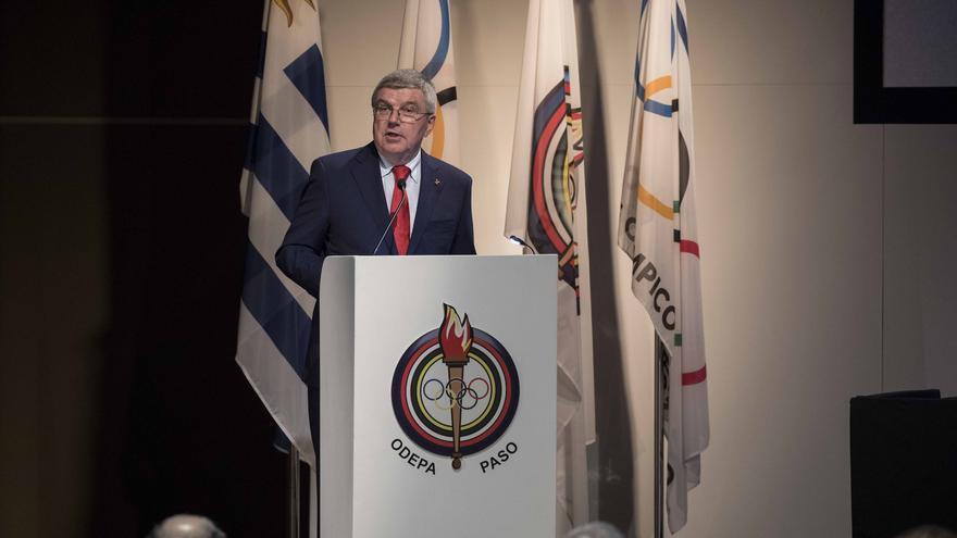 El presidente del COI, Thomas Bach, durante la Asamblea General de la Organización Panamericana del Deporte