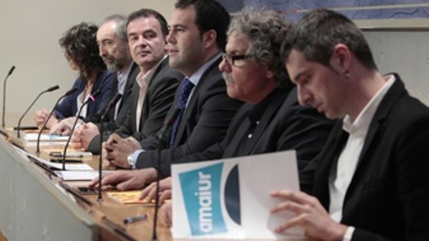 Tardá, Alfredo Bosch (ERC) Y Sabino Cuadra (AMAIUR)