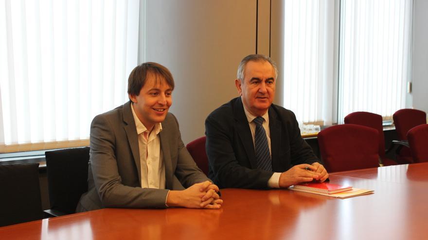 Javi López y Rafael González Tovar en el Parlamento Europeo / PSS