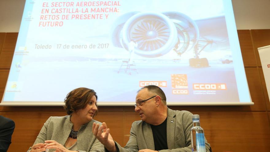 La consejera de Economía, en el acto organizado por CCOO