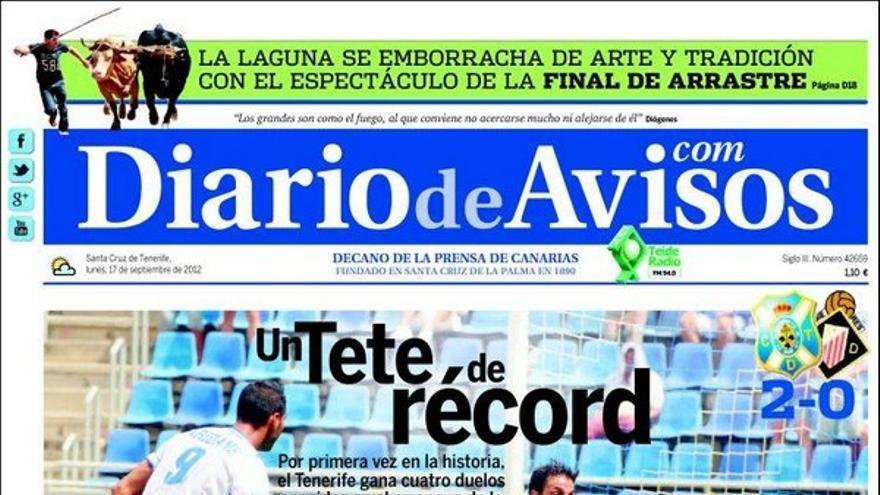 De las portadas del día (17/09/2012) #3