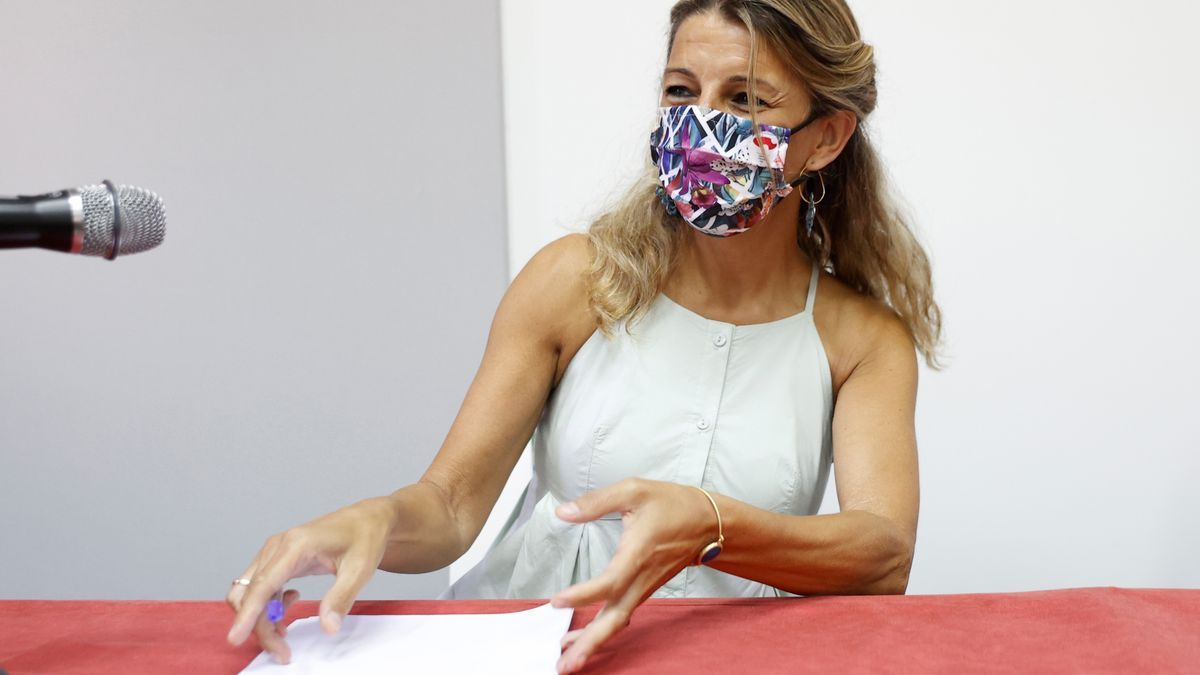 La vicepresidenta segunda y ministra de Trabajo, Yolanda Díaz. EFE/Chema Moya/Archivo