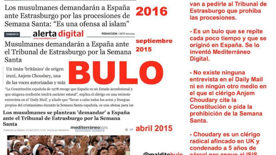 """Los musulmanes no """"demandarán a España"""" por las procesiones de Semana Santa"""