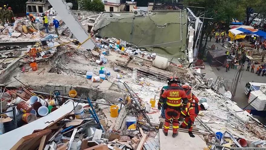 Suman 366 los fallecidos en el terremoto del 19 de septiembre en México