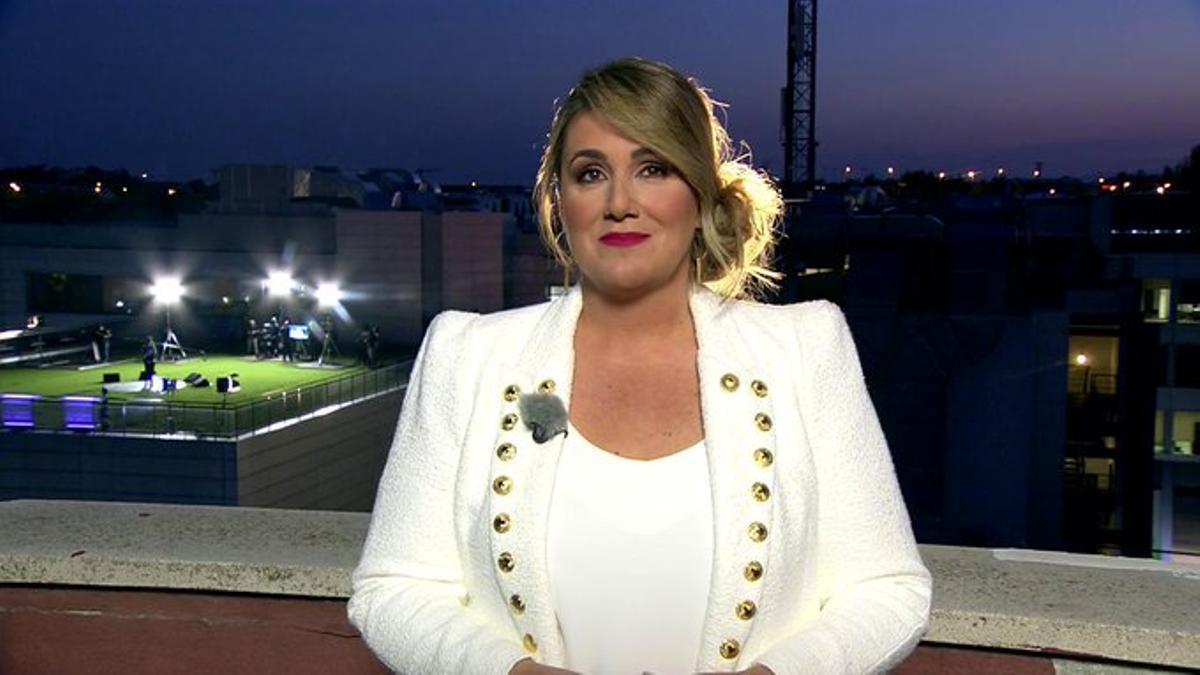 Carlota Corredera, en la azotea de Mediaset