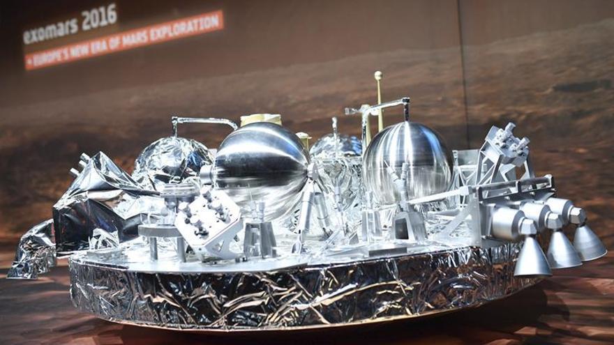 El Orbitador de Gases Traza que estudiará los gases orbita ya Marte