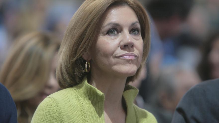 La secretaria general del PP, María Dolores de Cospedal, durante el 18 Congreso del PP