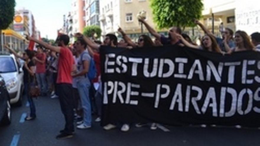 Protesta de Estudiantes Pre-Parados.