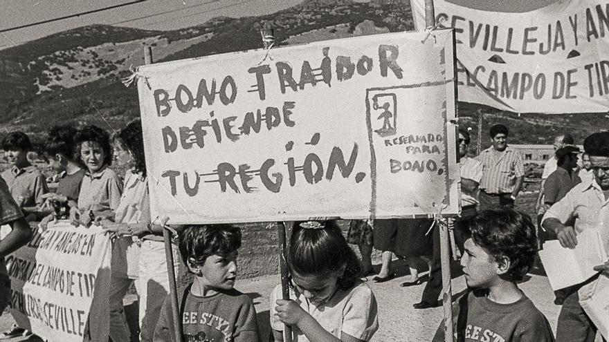 La celebraci n de un pueblo y la movilizaci n que impidi for Campo de tiro las mesas