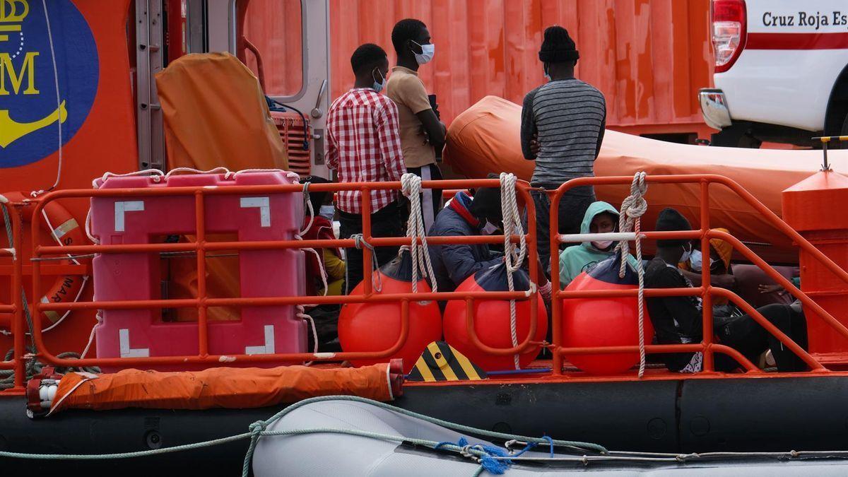 Migrantes llegados a Fuerteventura (archivo)