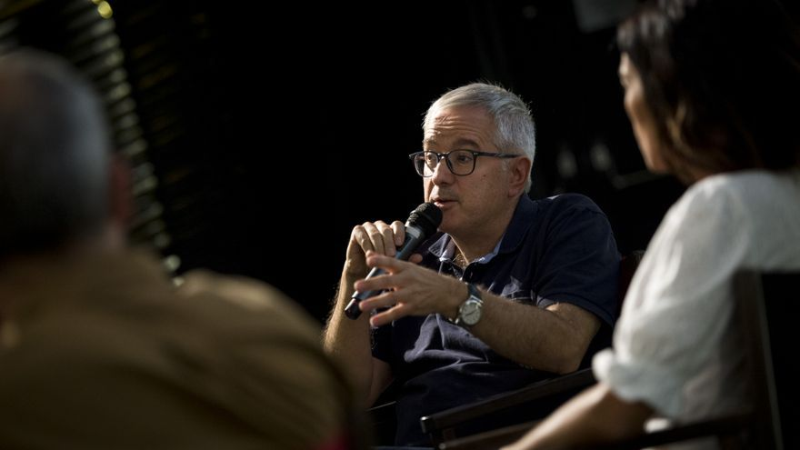 Alfonso armada durante la presentación de 'Africa adentro' en Madrid.