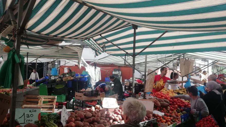 Las calles aledañas del mercado de Algeciras