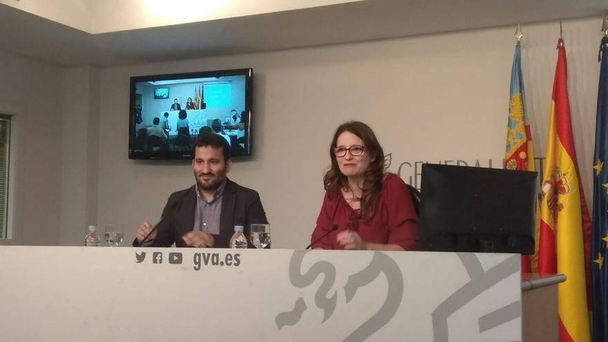"""Oltra pide a los partidos políticos """"responsabilidad"""" para """"no alentar"""" actos violentos como los de 9 d'Octubre"""