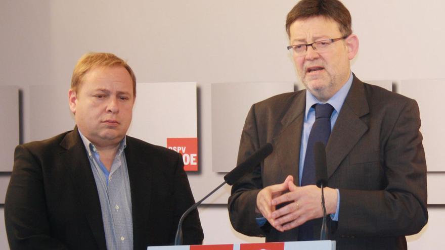 Joasé Manuel Orengo y Ximo Puig en un acto del PSPV-PSOE.