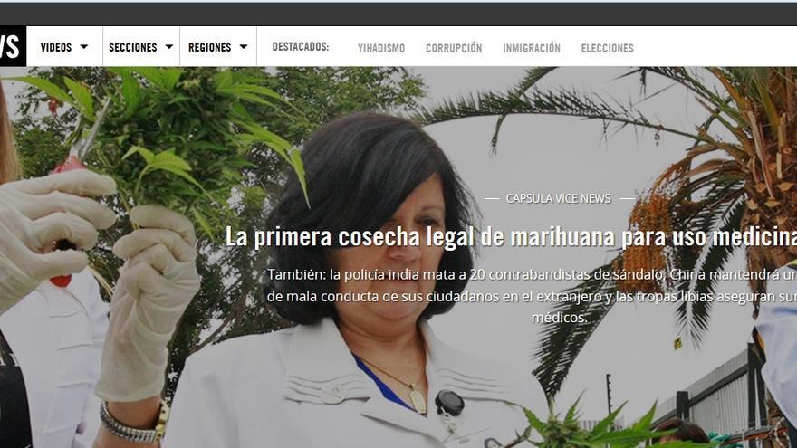 Cabecera de la web de la edición Vice News en español