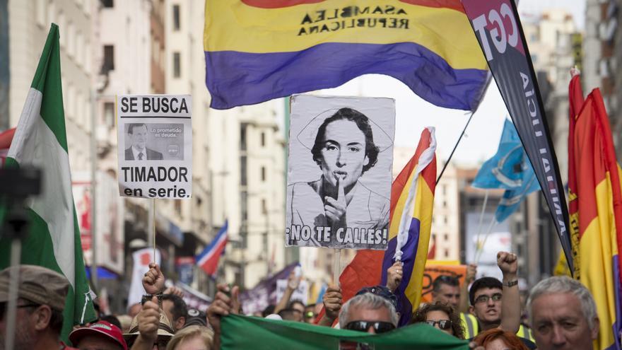 Manifestación de las Marchas de la Dignidad, el 27 de mayo de 2017 en Madrid