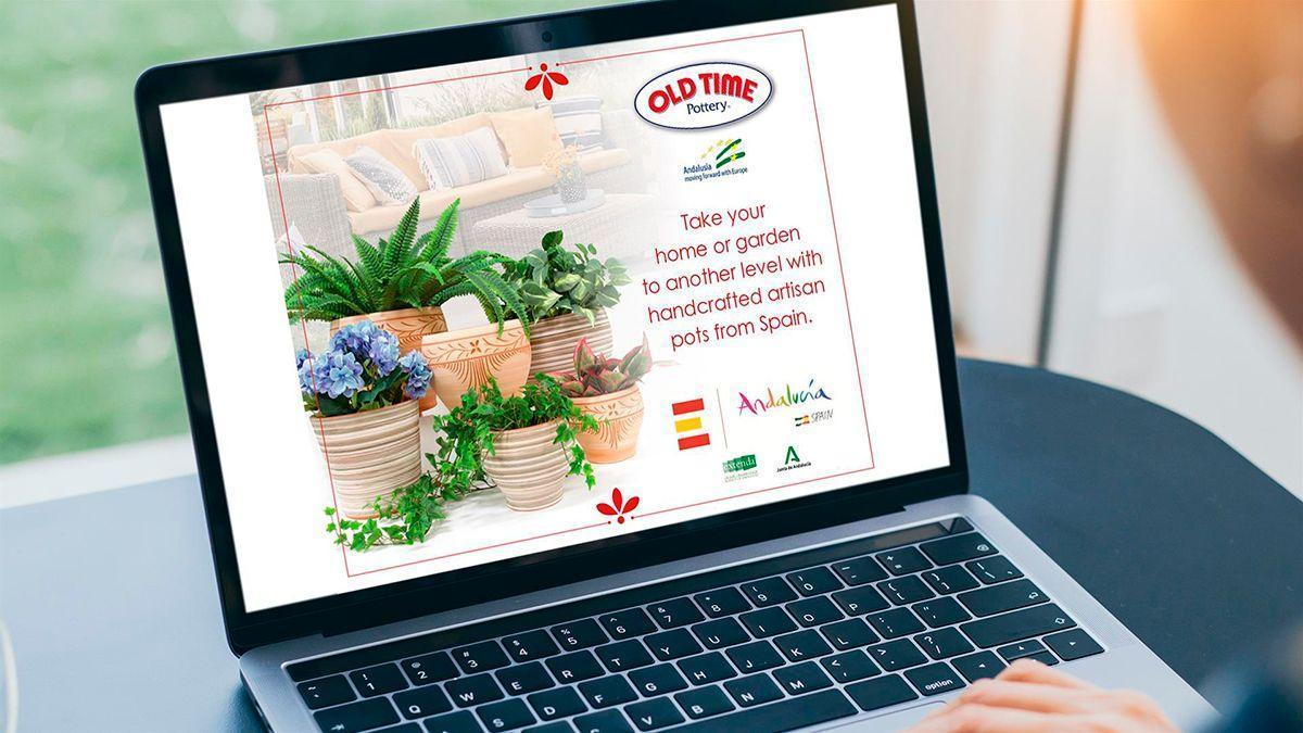 Imagen de la campaña de comercialización de cerámica de Córdoba en EEUU.