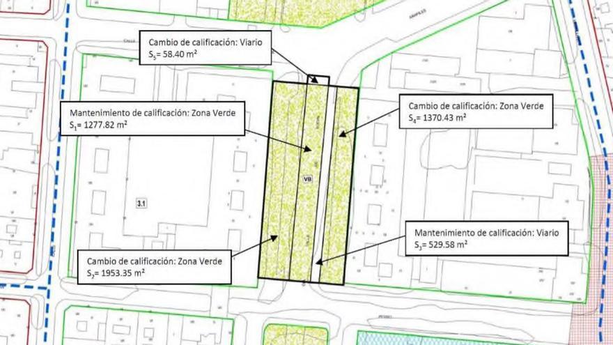 Ampliación de la zona verde en Conde Valle de Suchil inicialmente prevista en el plan | SOMOS CHAMBERÍ