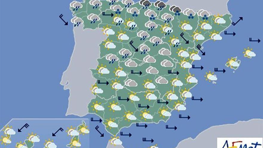 Hoy, ascenso de temperaturas y lluvias persistentes y locales en el norte