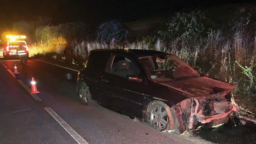 Accidente de tráfico en Berrioplano.