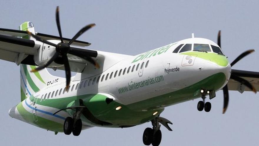 Imagen de archivo de un avión de la compañía Binter.