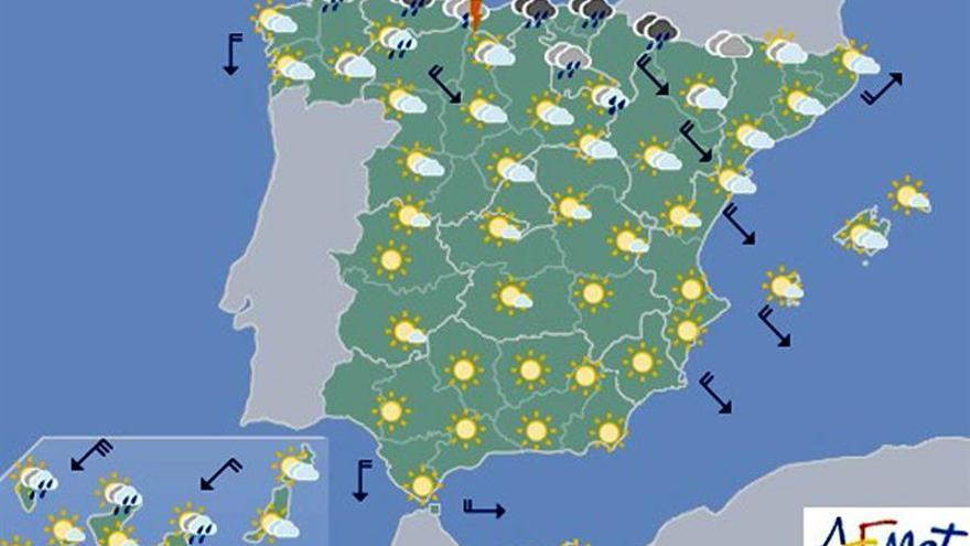 Hoy, temperaturas en ascenso en gran parte del país