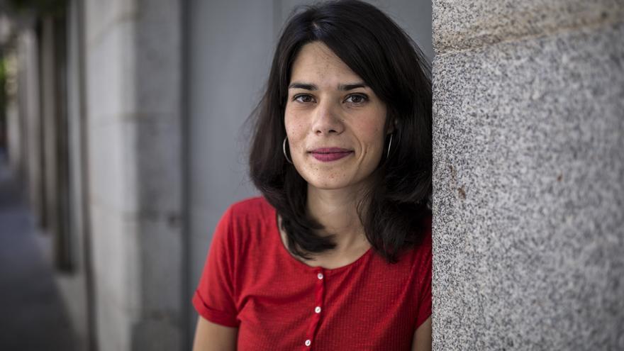 La candidata y portavoz de Unidas Podemos en Madrid, Isabel Serra. / Olmo Calvo